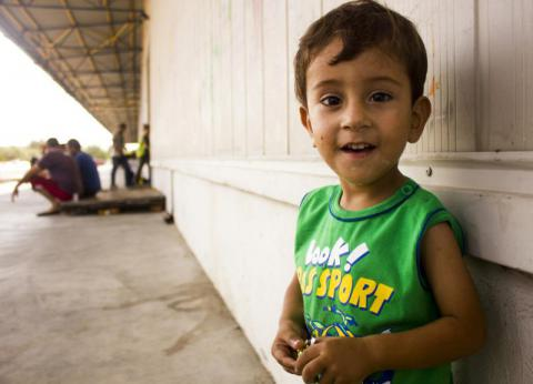 Louay* was diagnosed and treated for malnutrition by Save the Children