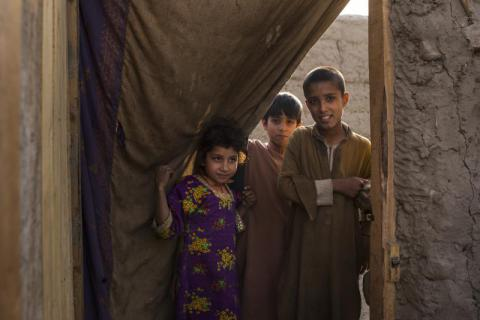 Rohullah, Obaid, their parents - Faqir Jan and Malika - and 5 brothers have lived in Jalalabad in eastern Afghanistan's Nangarhar Province for two months, since they left their home in a refugee camp in Pakistan following stricter regulations by Pakistani authorities. Andrew Quilty/Save the Children