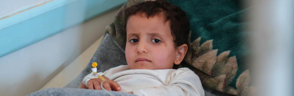 More than 600 children a day diagnosed with suspected cholera in Yemen