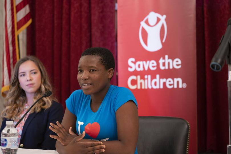 Cecilia, 16, speaking on a panel with members of Congress on Capitol Hill in 2019