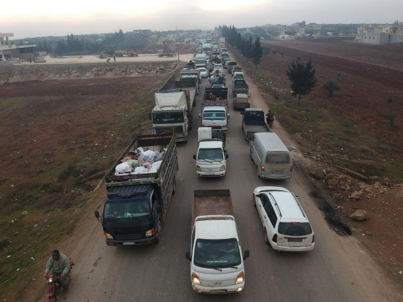Displaced families on the move
