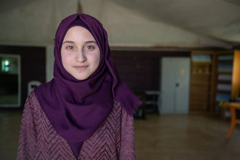 Maya in Zaatari refugee camp in Jordan