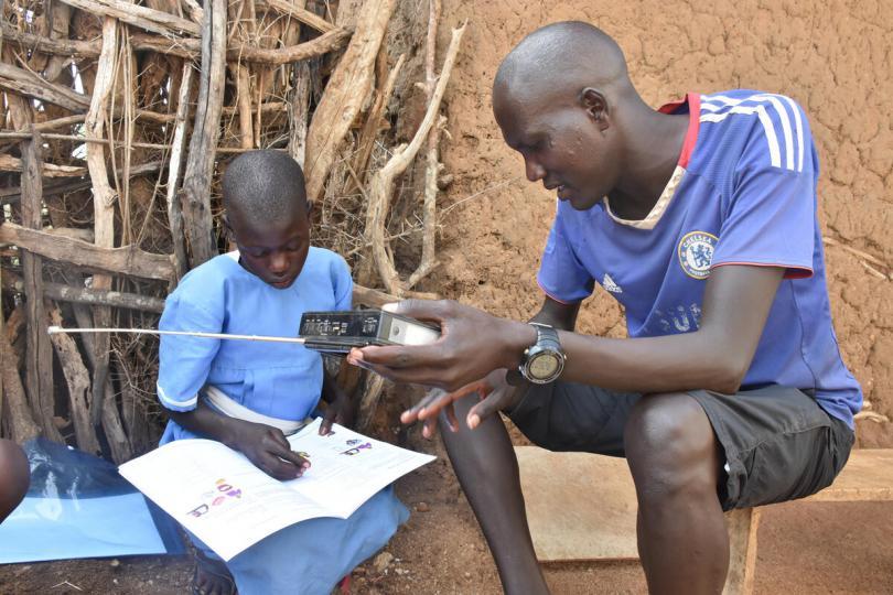 Anna, 12, keeps learning from home in Karamoja, northeast Uganda
