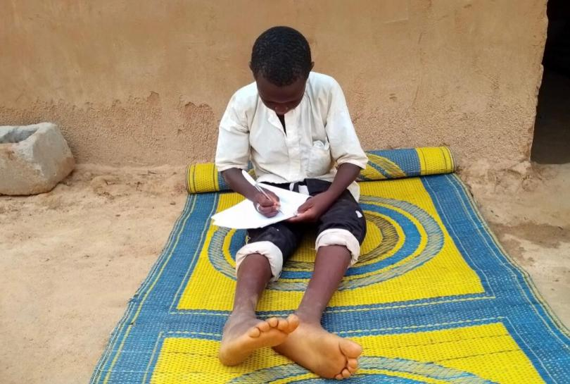 Buba*, 12, has been out of school for several months due to the coronavirus pandemic.