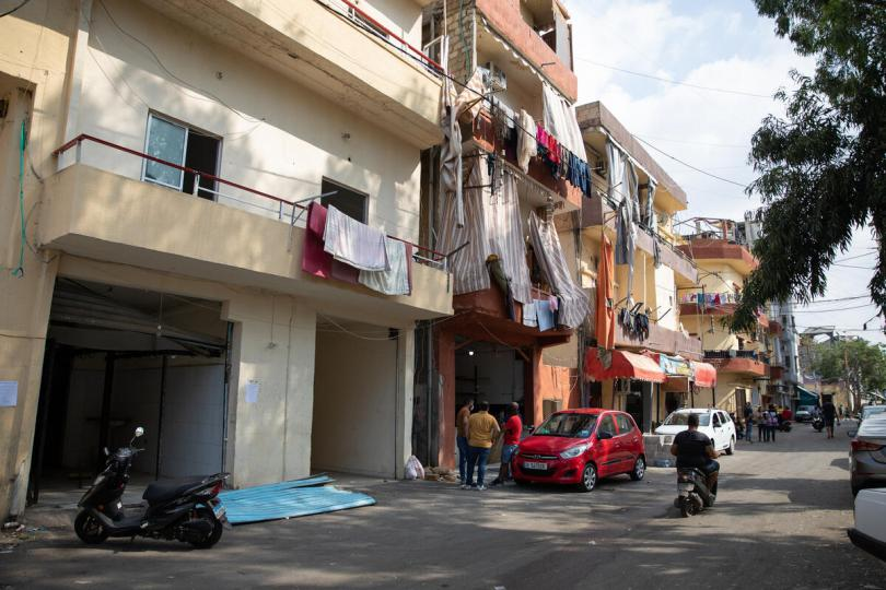 View of a street in Karantina area of Beirut, which was damaged in the explosion, Lebanon