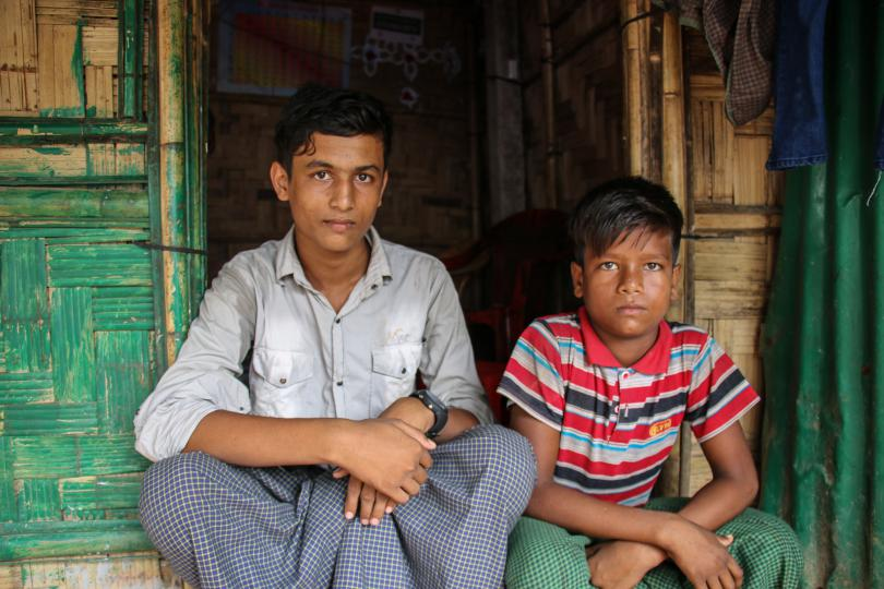 Kamal* (15) lives with his brother, Abdul* (12) and his grandmother in Cox's Bazar, Bangladesh