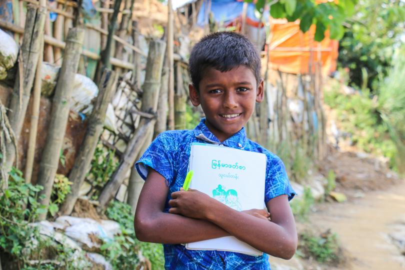 Amir*, 10, lives in the Rohingya refugee camps and receives psychosocial support from Save the Children