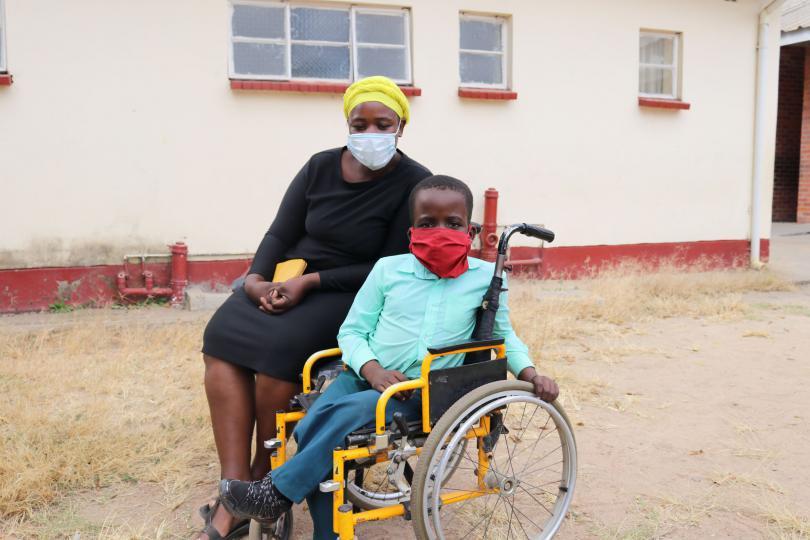 Bradley, 10, Zimbabwe, received hygiene kits from Save the Children