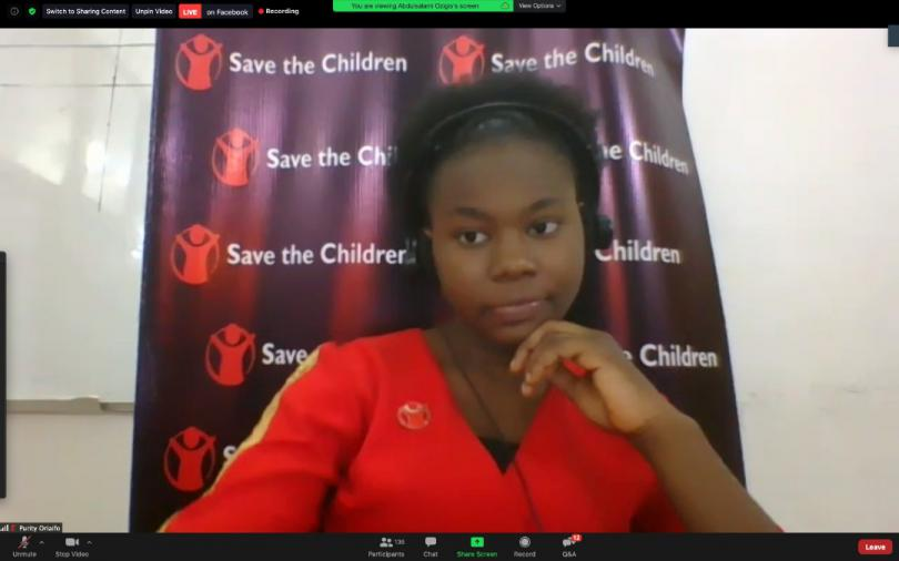 Purity, 15, Nigeria, takes part in our Global Digital Hangout