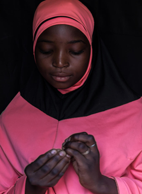 A portrait of Dioura*, aged 12, Tillaberi region, Niger.