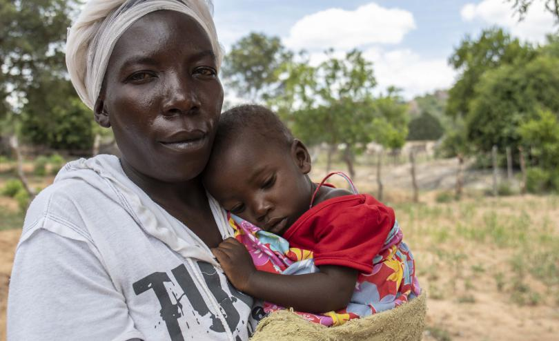 Pretty (38) and her daughter Shaylen (14 months) have been impacted by the drought and food crisis in Zimbabwe