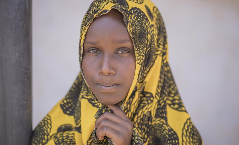 Hawo*, 13, school girl in Somalia who is missing school because of COVID-19