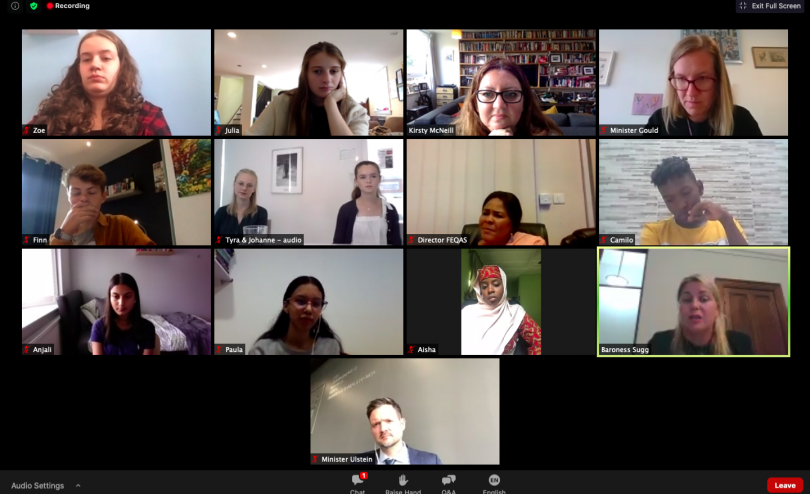 Children from around the world speak with leaders in our Global Digital Hangout