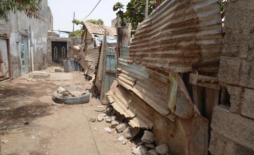 An external view of family house in Hudaydah, Yemen.