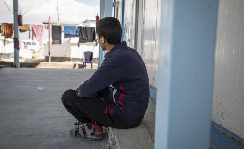 Marwan*, 15, is an unaccompanied child living in a displacement camp in North East Syria