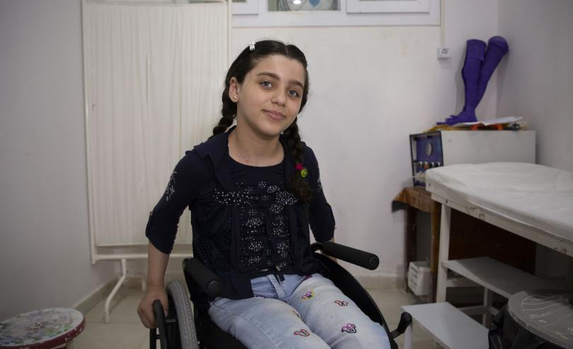 Alia* is 10 years old from Ghouta in Syria. She was critically injured in a mine explosion when she was just four years old