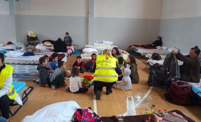Inside a camp for affected people