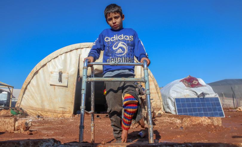 Maher*, 8, Idlib, North West . Syria