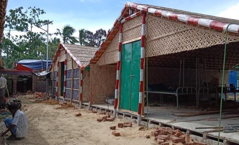 Construction of the COVID-19 isolation and treatment centre in Cox's Bazar, Bangladesh