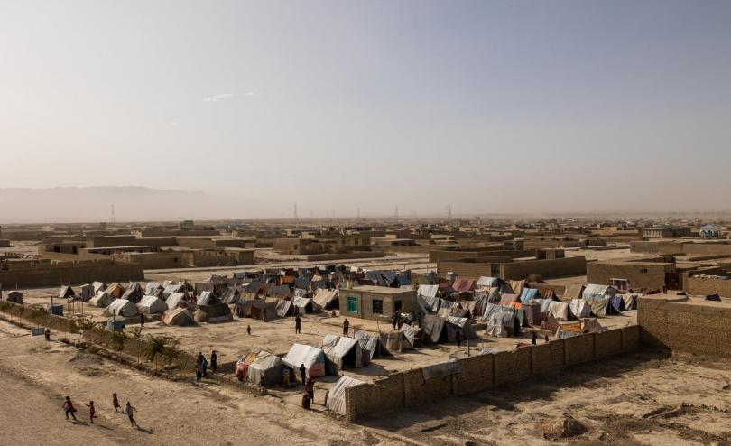 A settlement near Mazar-e Sharif, Afghanistan