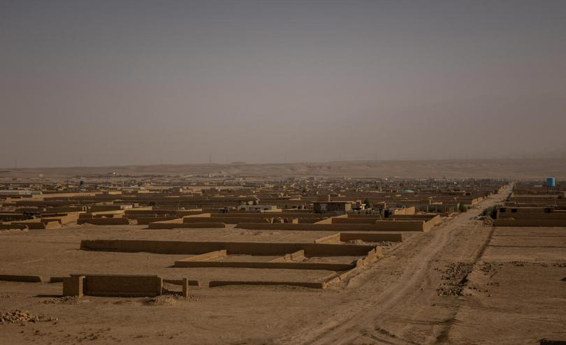 A settlement for displaced people in Mazar-e Sharif, Afghanistan.