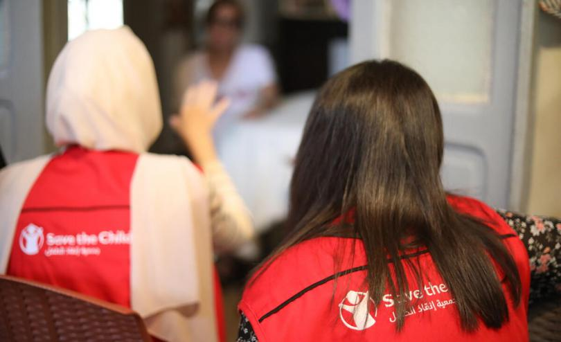 Save the Children staff visit Marie-Helene's house in Beirut, Lebanon
