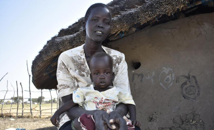 Abuk*, 38-year-old mother with her 8-month-old daughter Akel*