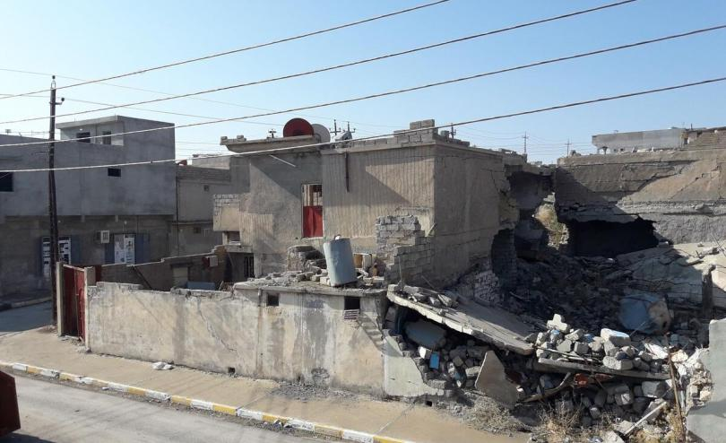 After the closure of Yahyawa camp on November 15 many Iraqi families moved to Eiyadiah and now live among rubble
