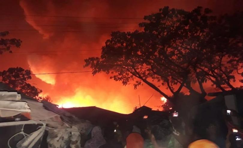 Fire in Rohingya camp, Cox's Bazar