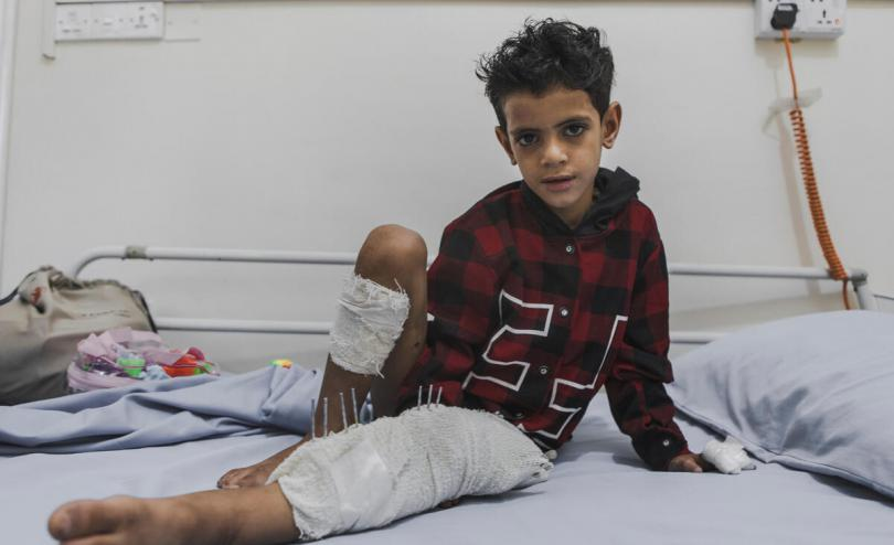 Omar*, 8, victim of shelling