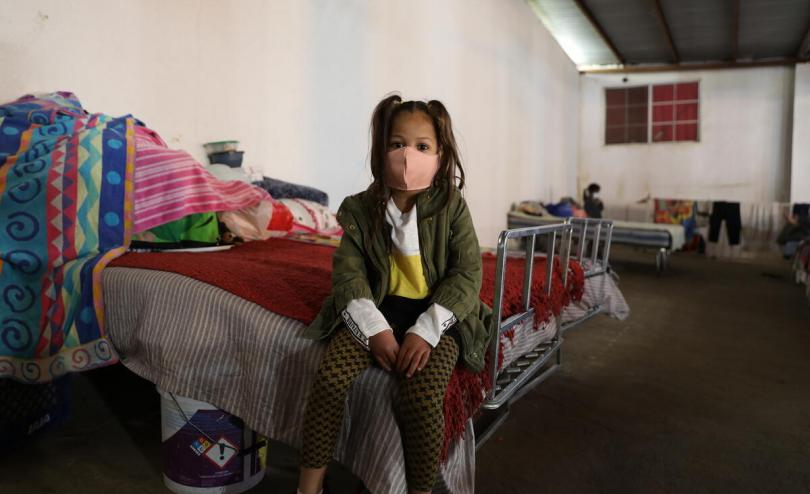 Irene*, 7 years old, in a shelter on the northern border of Mexico