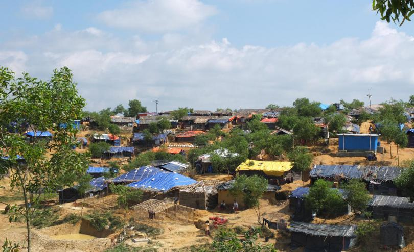 A general view of Kutupalong camp for displaced Rohingya near Cox's Bazar in Bangladesh, October 23, 2017