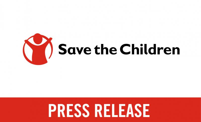 Press release from Save the Children graphic