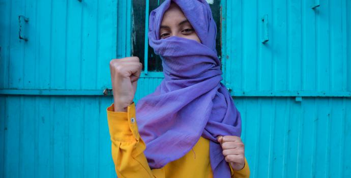 Ayda* is part of the girls' club in Harar, Ethiopia