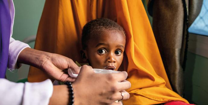 More than 5.7 million children under five on the brink of starvation across the world