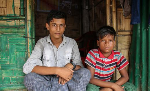 Rohingya brothers living in Cox's Bazar Bangladesh
