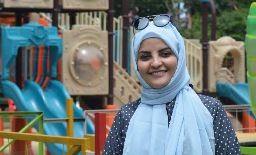 Mariam Adnan, roving child protection manager working in Yemen