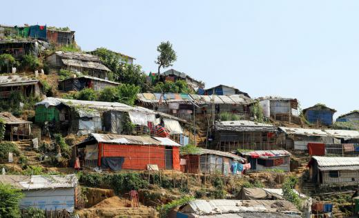 Camp for refugees in Cox's Bazar, Bangladesh