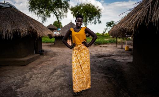Harriet*, 14, at her home in Bidi Bidi Refugee settlement in Northern Uganda