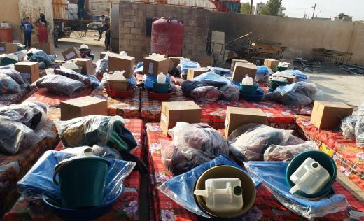 Save the Children distribution of winterisation kits and Non-food items to displaced populations in Al Hasakeh