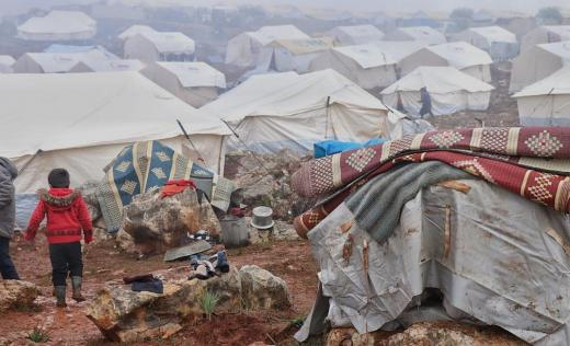 Displacement camp in Idlib, North West Syria
