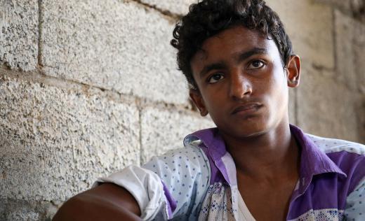 Rami* 15, was injured by a warplane in Yemen.