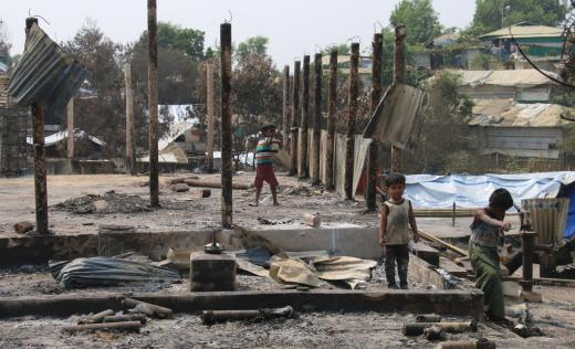 Save the Children's rapid response in the Rohingya camps in the aftermath of the fires that occurred on 22nd March 2021 in Cox's Bazar, Bangladesh is ongoing