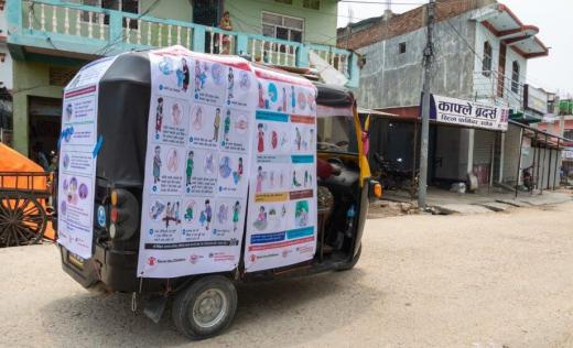 Covid-19 advice displayed in Nepal for migrant workers and their families