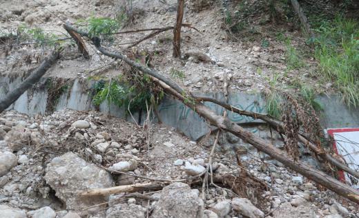 Earthquake damage in the Les Cayes area of Haiti