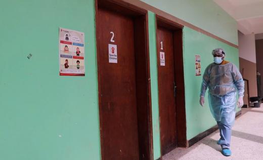 Dr Othman Abdel Basd in Khaldun Hospital Lahj, Yemen
