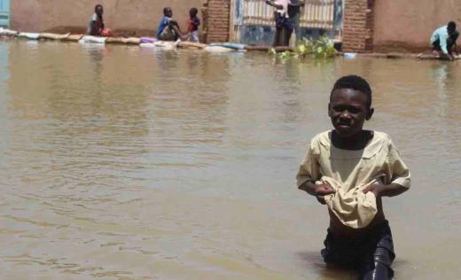 Children among the injured and homeless as deluge of water tears down houses, raising fears of spike in waterborne diseases