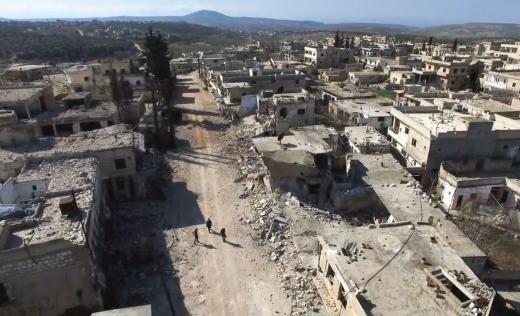 Drone footage of Idlib, Syria