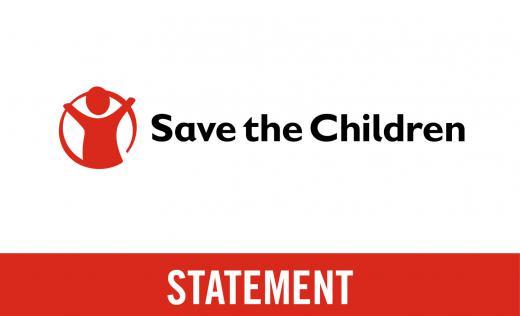 Save the Children Logo with 'Statement' below
