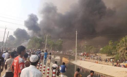 Fire in Cox's Bazar, Bangladesh